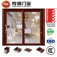 China factory large sliding glass door, interior big glass aluminum sliding doors price