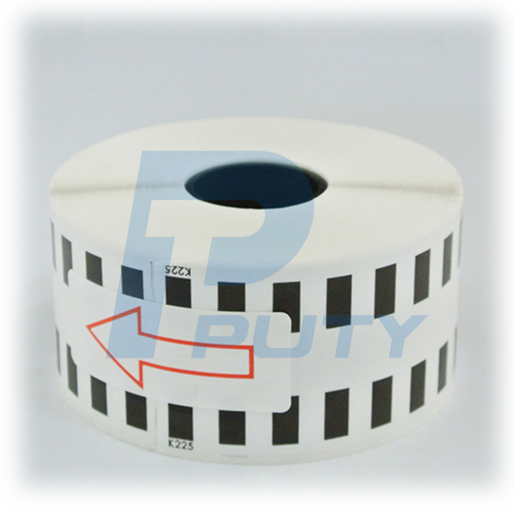 Office supply compatible black on white Continuous length label DK-22225 Sticker Labels DK22225 for QL label printer