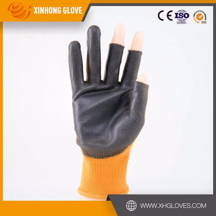 Level 3/5 PU coated cut resistant gloves HDPE knitted pu hand protective gloves