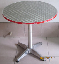brand logo aluminum round dining folding table YT1LP