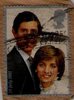 Stamp - Post UK (King & Diana - 29 July 1981)