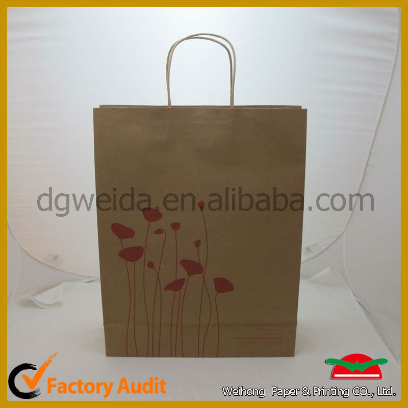 Printed Cheap White Kraft Paper Carrier Bag Wholesale Custom Kraft Paper With Logo