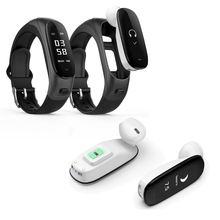 Healthy Sports Smart Wristband BLE Earphone Headset Pedometer Driving Fitness Phone Call Bracelet