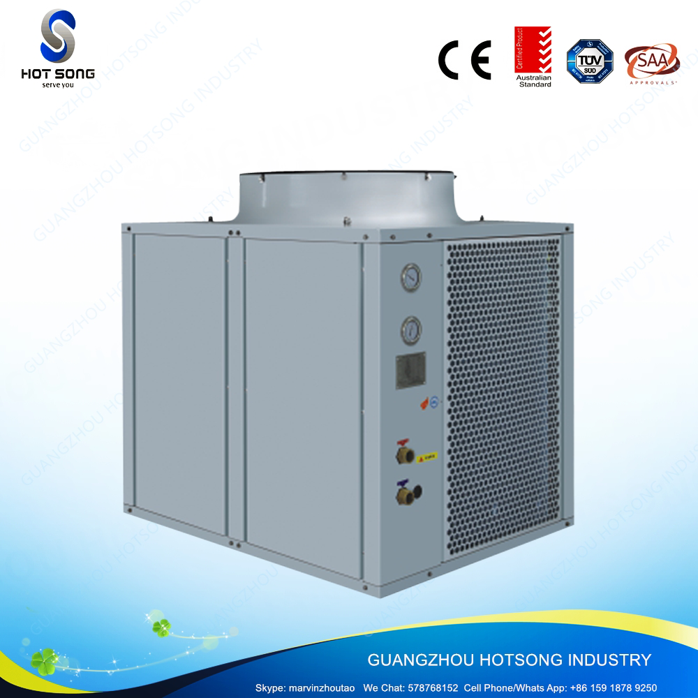 HS-105W/D stainless steel high efficient high cop air to water heat pump with 42kw water heater BTU 14400