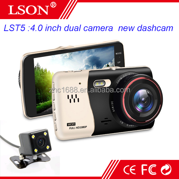 4 Inch Dual Lens Digital Video Recorder 1080p Portable DVR Monitor