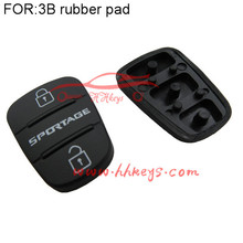 New For K-ia Replacement Rubber Pad Remote Key Keyless Fob For 3 Button Switchblade Flip