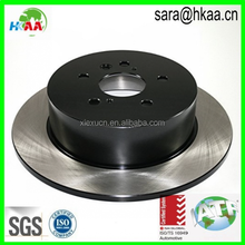 Rear solid disc electrophoretic brake rotor for motorcycle