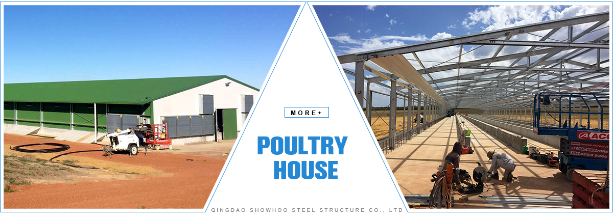 Prefabricated Low Cost Broiler Poultry Farm House Design In China