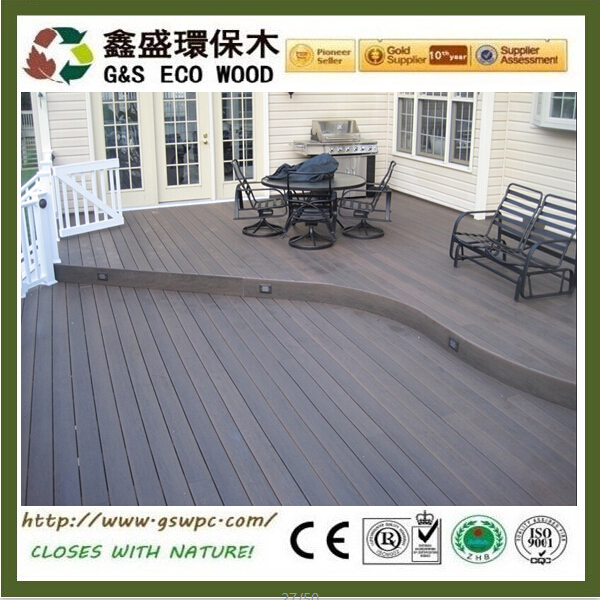 Anti-uv Outdoor waterproof wpc decking Around Swimming Pool high quality black composite decking