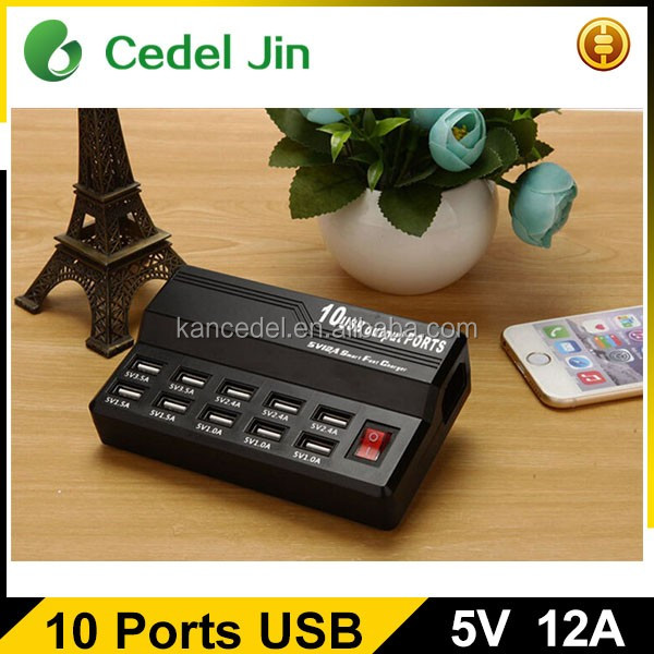 10 Port USB Power Adaptor for iPhone Samsung charger,5V/3.5A 2.5A 1.5A optional USB charger