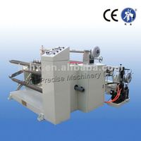 Conductive cloth slitter and rewinder machine