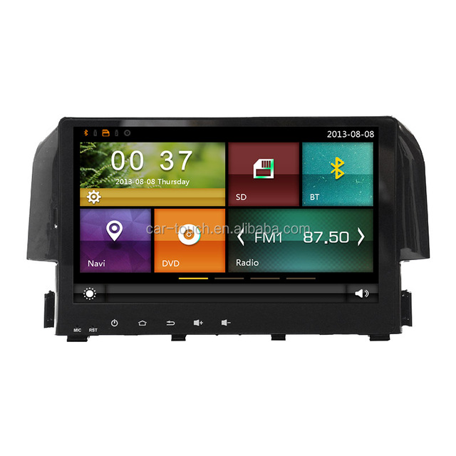 touch screen car dvd player for Honda Civic 2017 with car gps multimedia navigator