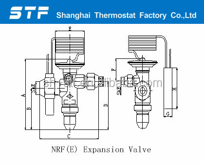NRF(E) Thermal Expansion Valves for refrigeration parts