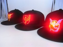 2016 hot sale high quality team work cosplay pokemon go colorful led <strong>hat</strong>