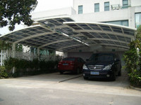 Easy installation aluminium car shed with polycarbonate roof