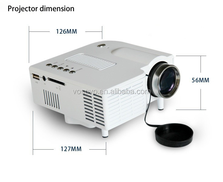 UC28+ Mini Pico Projector Home Cinema Theater Digital 1080P HD LED LCD Portable Projector Support PC&Laptop