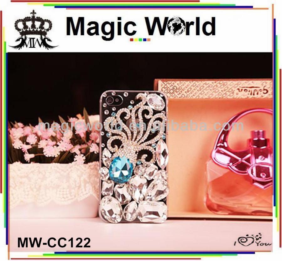 Fashion Gorgeous Octopus crystal diamond phone case for i phone