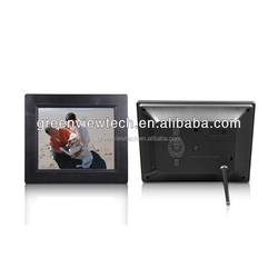 Auto start and playback 8 inch black 800*600 lcd video blue film digital photo frame