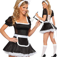 QQ0380 Ladies Sexy French Maid Fancy Dress Fun Party Hen sexy Costume for Christmas