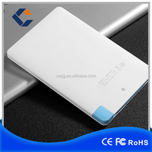 Wholesale 6.6 mm Super Slim Credit Card Power Bank 2500mah