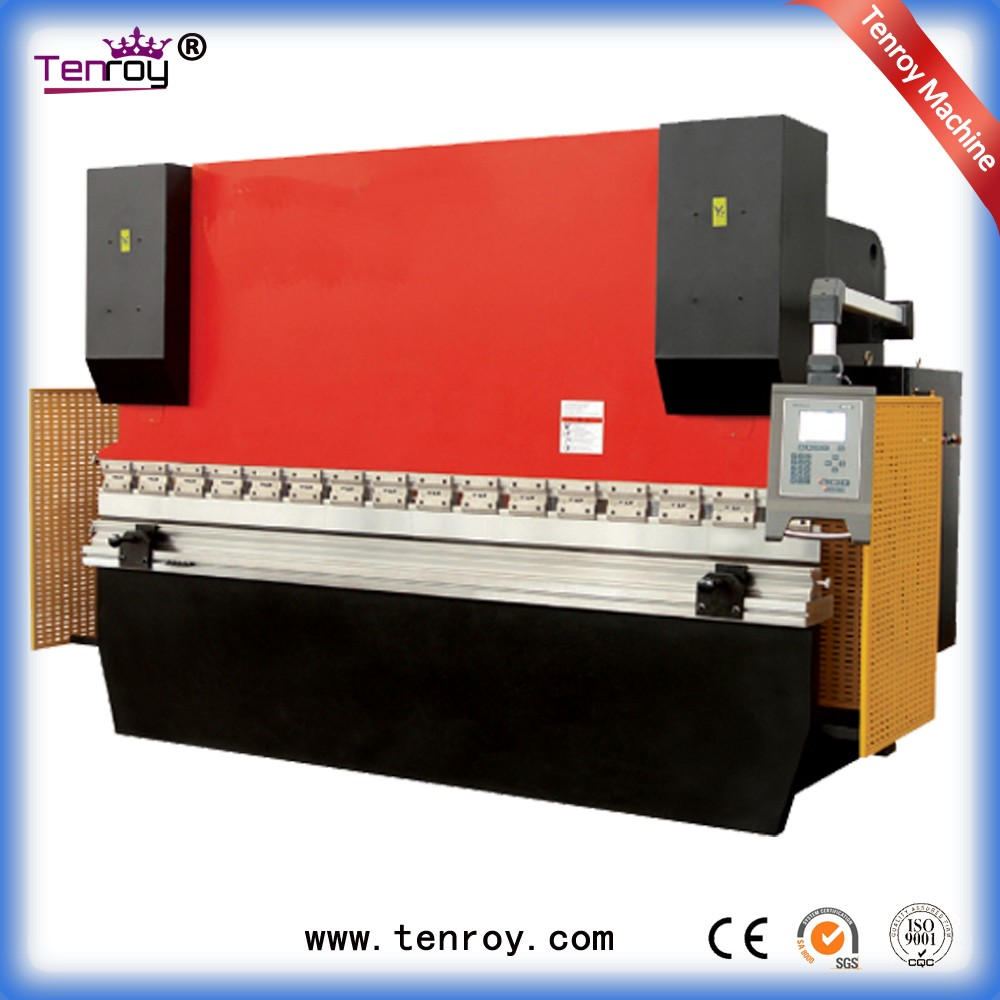 Tenroy china manufacturing industry hydraulic press brake,manual hydraulic press brake machine 100ton,laundry flat sheet machine