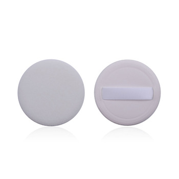 Ladies Makeup Air Cushion Flocking Round White Traditional Powder Puff