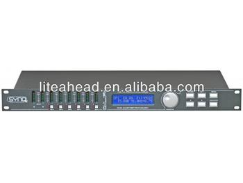 Professional digital loudspeaker management processor based on dual 24bit DSP DLP6 Mk2