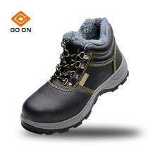 High ankle new European Standard Cowhide Safety Shoes