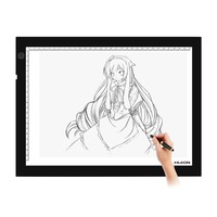 HUION LB4 acrylic 400 x 270 x 8mm ajustable brightness animation Drawing and tracking signature Light pad led drawing board