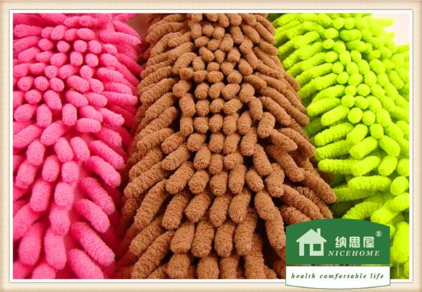 high absorbent and detergent microfiber or chenille decorative hand towels