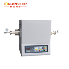 Hydrogen gas tube furnace with automatic burning control/brazing oven