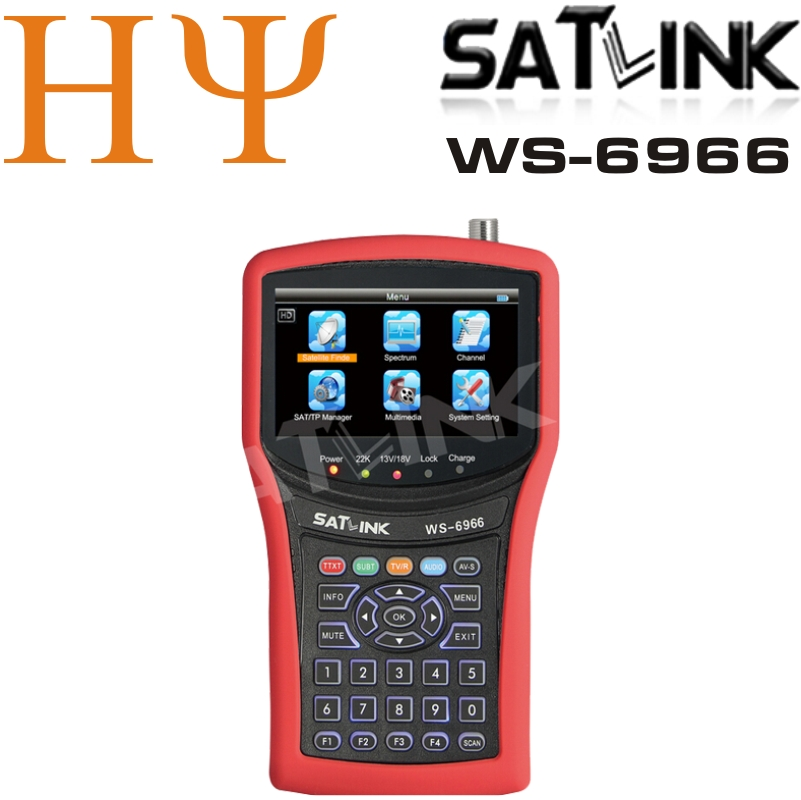 Genuine Satlink WS-6966 Satellite Finder Meter MPEG4 DVB-S2 Receiver
