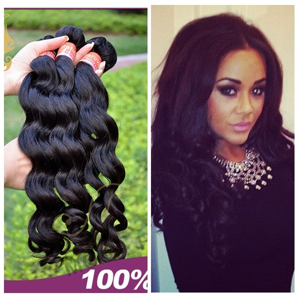Fashion popular peruvian hair loose wave full cutilces sensual hair weave