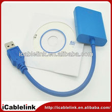 vga to usb cable/usb to vga adapter/usb 3.0 to vga converter Multi-display Graphic Converter Adapter Cable