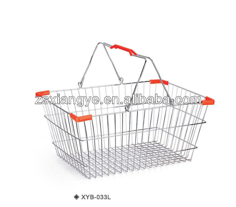 XYB-031 20L Steel Chrome plated Wire shopping basket
