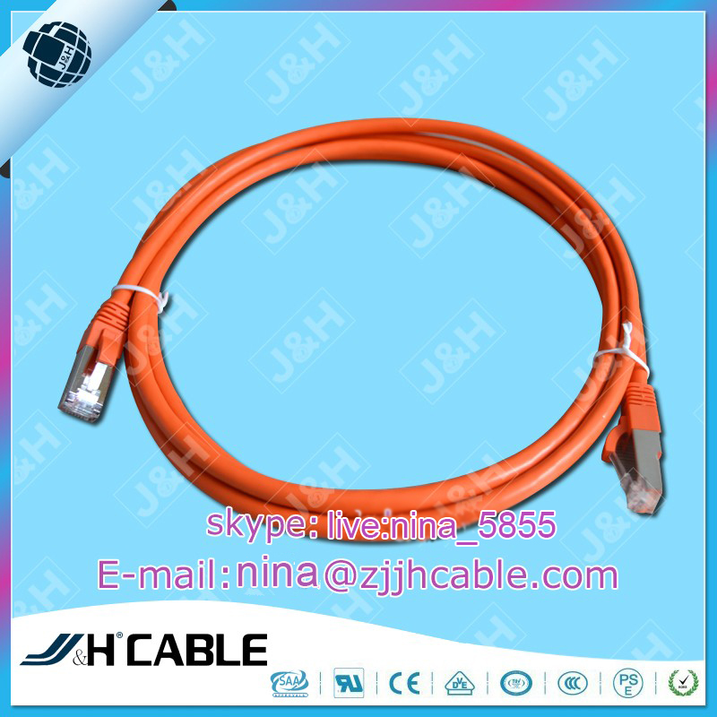 Fluke testing network cable UTP FTP SFTP CAT5E CAT6 CAT7 0.58MM 23AWG patch cord double shielding