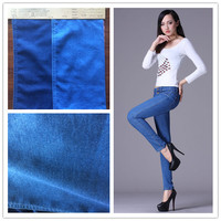 Yarn dyed litter stretch fake knitted denim fabric for leggings