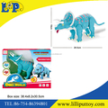 Popular musical & light up plastic triceratops toy with PDQ