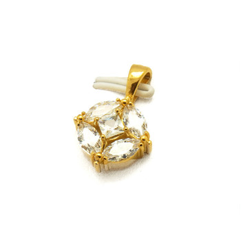 Online Shop Hot 18k Gold Plated Jewelry Gemstone Charms for Christmas Gifts
