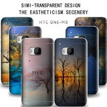 The latest simi-transparent custom design cover assemble case for HTC one M9 M8 M7