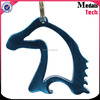 Guanggong factory Cool bottle opener alloy material cut out horse shape keychain