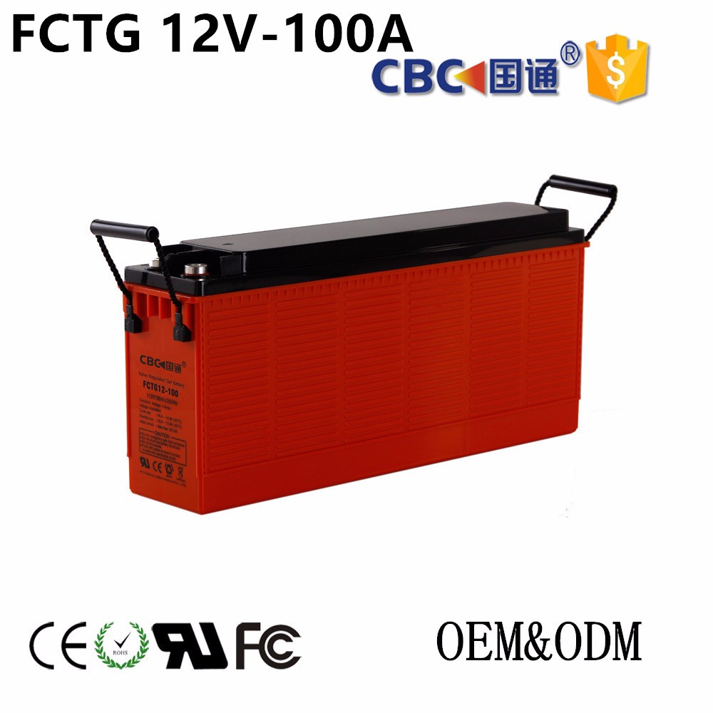CBC Guotong 12V100AH Solar FCTG Front-access UPS Storage Rechargeable Battery For Solar System
