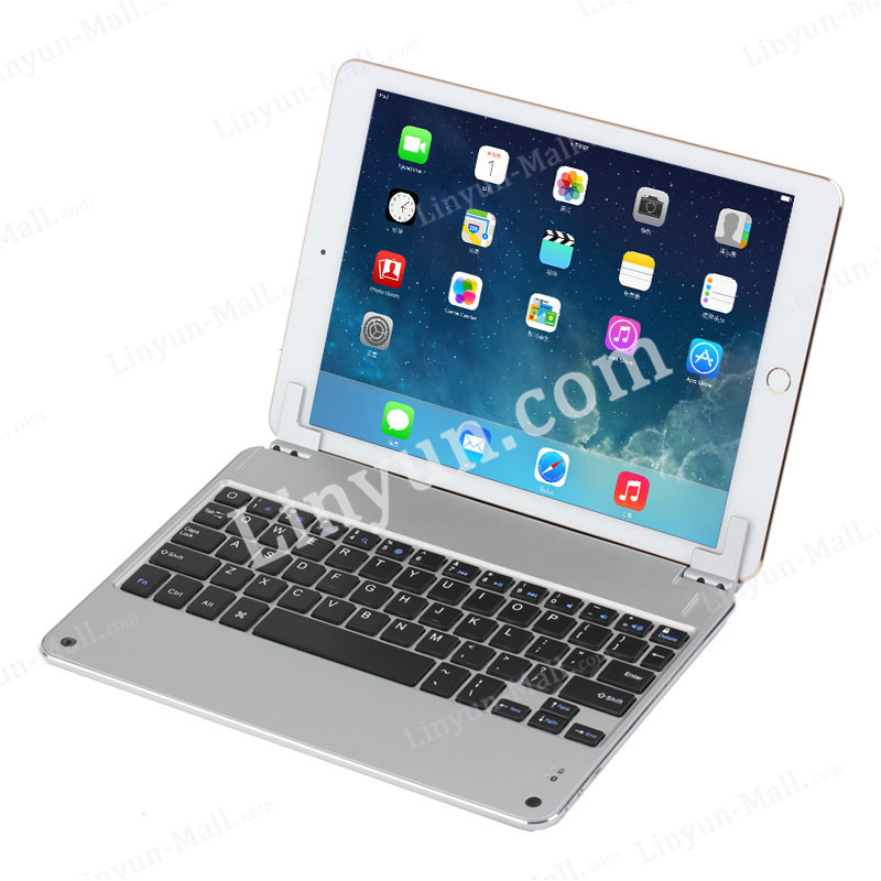 Magnetic Aluminum Bluetooth Keyboard for iPad Air 2 With Holder,Aluminum Keyboard for iPad Air 2