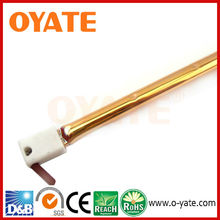 Halogen quartz infrared lamp with gold coating