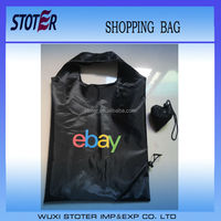 Leaves of strawberry cheap tote folding nylon/polyester shopping bags