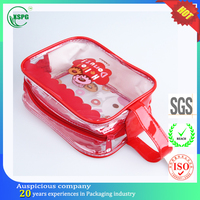 Waterproof cute train case cosmetic bag for girls