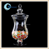 large glass storage jar with lid, wholesale glass apothecary jars