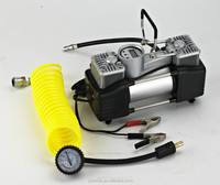 Heavy duty double cylinder portable DC 12V car air compressor with digital gauge