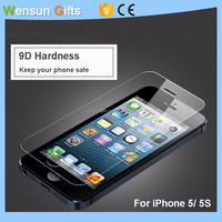 Screen Protector For iPhone 5,5S 9H hardness Tempered Glass free shipping