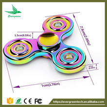 Good quality factory price rainbow tri spinner new fidget toys for adults kids spin 3minutes cheap prices